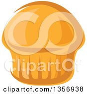 Clipart Of A Cartoon Muffin Royalty Free Vector Illustration