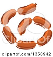 Clipart Of Cartoon Sausage Links Royalty Free Vector Illustration by Vector Tradition SM