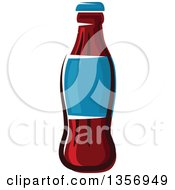 Clipart Of A Cartoon Soda Bottle Royalty Free Vector Illustration