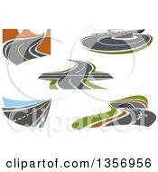 Clipart Of Highways Overpasses And Loops Royalty Free Vector Illustration