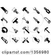 Clipart Of Black And White Tool Icons Royalty Free Vector Illustration by Vector Tradition SM