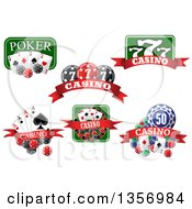 Clipart Of Casino Designs Royalty Free Vector Illustration