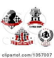 Clipart Of Chess Designs With Text Royalty Free Vector Illustration