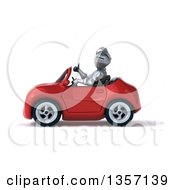 Clipart Of A 3d Armored Chevallier Knight Giving A Thumb Up And Driving A Red Convertible Car On A White Background Royalty Free Illustration by Julos