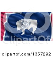 Clipart Of A 3d Rippling State Flag Of Wyoming USA Royalty Free Illustration