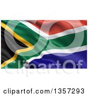Clipart Of A 3d Rippling Flag Of South Africa Royalty Free Illustration