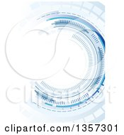 Clipart Of A Background Of An Abstract Circle Of Blue Royalty Free Vector Illustration by dero