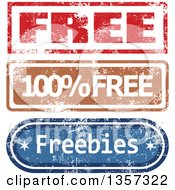 Clipart Of Grungy Rubber Stamp Styled Free Signs Royalty Free Vector Illustration by Prawny