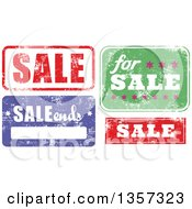 Grungy Rubber Stamp Styled Sale Signs