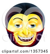 Clipart Of A 3d Yellow Smiley Emoji Emoticon Face Royalty Free Vector Illustration by AtStockIllustration
