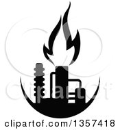 Clipart of a Blue Natural Gas and Flame Design - Royalty ...