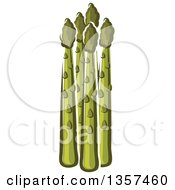 Clipart Of Cartoon Asparagus Stalks Royalty Free Vector Illustration by Vector Tradition SM