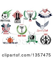 Clipart Of Sports Designs With Text Royalty Free Vector Illustration by Vector Tradition SM