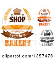Clipart Of Bread And Muffin Bakery Text Designs Royalty Free Vector Illustration
