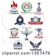 Volleyball Sports Designs With Text