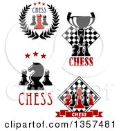 Clipart Of Chess Designs With Text Royalty Free Vector Illustration by Vector Tradition SM