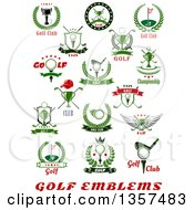 Clipart Of Golf Sports Designs With Text Royalty Free Vector Illustration by Vector Tradition SM
