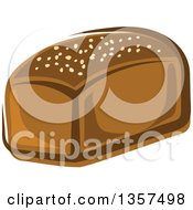 Clipart Of A Cartoon Rye Bread Loaf Royalty Free Vector Illustration