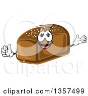 Clipart Of A Cartoon Rye Bread Loaf Character Royalty Free Vector Illustration