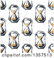 Clipart Of A Seamless Pattern Background Of Hourglasses Royalty Free Vector Illustration by Vector Tradition SM
