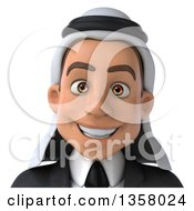 Clipart Of A 3d Arabian Business Man Avatar On A White Background Royalty Free Illustration