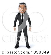 Clipart Of A 3d Arabian Business Man On A White Background Royalty Free Illustration