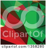 Clipart Of A Green And Red Low Poly Abstract Geometric Background Royalty Free Vector Illustration