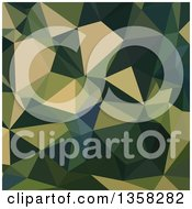 Clipart Of An English Green Low Poly Abstract Geometric Background Royalty Free Vector Illustration