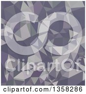 Lavender Purple Low Poly Abstract Geometric Background
