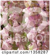 Clipart Of A Lavender Rose Pink Low Poly Abstract Geometric Background Royalty Free Vector Illustration