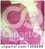 Clipart Of A Light Thulian Pink Low Poly Abstract Geometric Background Royalty Free Vector Illustration