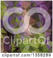 Clipart Of A Palatinate Purple Low Poly Abstract Geometric Background Royalty Free Vector Illustration