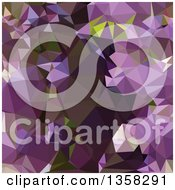 Clipart Of A Rich Lilac Purple Low Poly Abstract Geometric Background Royalty Free Vector Illustration