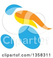 Clipart Of A Colorful Athlete Racing In A Wheelchair Royalty Free Vector Illustration