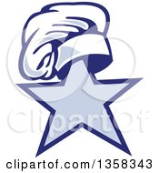 Clipart Of A Retro Toque Chef Hat On Top Of A Star Royalty Free Vector Illustration by patrimonio
