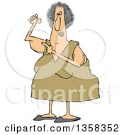 Clipart Of A Cartoon Chubby Caucasian Woman Pointing To Her Flabby Tricep Royalty Free Vector Illustration by djart