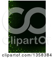 Clipart Of A Background Of Green Lights And Tiles With Black Text Space Royalty Free Vector Illustration by dero