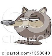Cartoon Round Fuzz Ball Wolf Or Dog