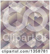 Clipart Of A Cubic Geometric Background Royalty Free Vector Illustration by KJ Pargeter