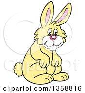 Cartoon Happy Yellow Bunny Rabbit