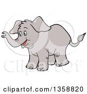 Cartoon Happy Baby Elephant