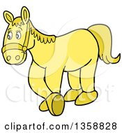 Cartoon Yellow Horse