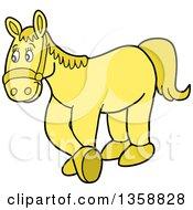 Cartoon Yellow Horse