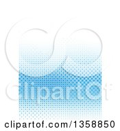 Clipart Of A Background Of Blue Tiles Fading To White Royalty Free Vector Illustration