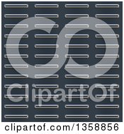 Clipart Of A Seamless Bumped Metal Plate Texture Background Royalty Free Illustration
