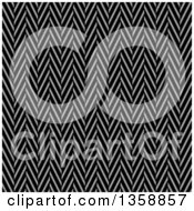 Seamless Background Of A Black And White Twill Weave Texture