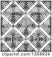 Clipart Of A Black And White Seamless Geometric Background Royalty Free Vector Illustration