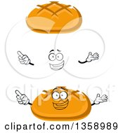 Clipart Of A Cartoon Face Hands And Bread Bowls Royalty Free Vector Illustration