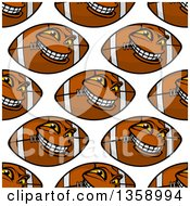 Background Pattern Of Seamless Brown And White American Football Characters