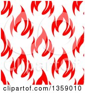 Clipart Of A Seamless Pattern Background Of Red Flames Royalty Free Vector Illustration